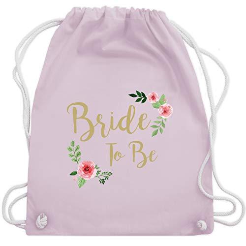 Shirtracer JGA Junggesellenabschied Frauen - Bride To Be - Unisize - Pastell Rosa - jungesellenabschied rucksack - WM110 - Turnbeutel und Stoffbeutel aus Baumwolle