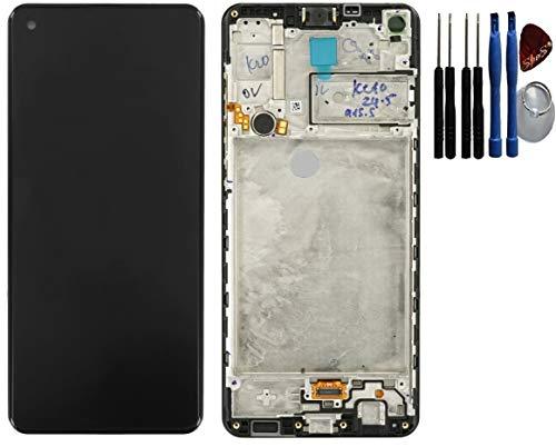 SPES Original LCD Display Bildschirm Touchscreen Anzeige für Samsung Galaxy A21s A217F Rahmen schwarz