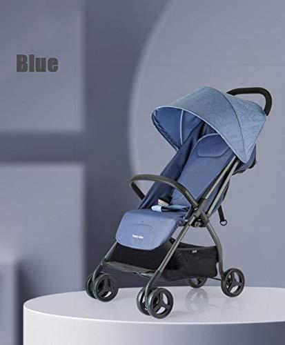 WNN-URG Cochecito Cochecito Ligero Compacto de Viaje for cochecitos de bebé una Mano Plegable facilitar su Transporte y Almacenamiento Adecuado Desde el Nacimiento hasta 25kg URG (Color : Blue)
