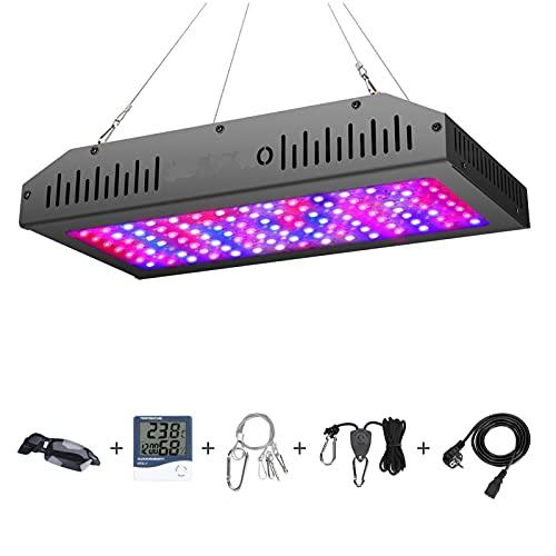 WSGLZ 1200W LED Crece la luz Plantas de Espectro Completo Lámpara de Crecimiento de la luz de la luz Doble Interruptor hidropónico de la Planta Interior de la Planta y la Flor Flor UV IR