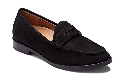 Vionic Women's Wise Waverly Loafer - Ladies Slip-on Shoes with Concealed Orthotic Support Black 6 Medium US