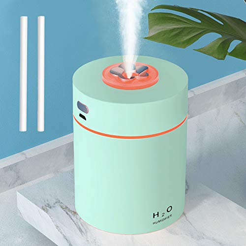 Kebile Humidifiers for Bedroom, Cool Mist Mini Humidifier, 240ml Portable Humidifier, Desktop, for Home Bedroom Small Room Office Travel Car Plant, Super Quiet, Auto Shut-off, Green