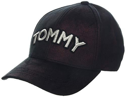 Tommy Hilfiger Damen Tommy Patch Velvet Baseball Cap, Rot (Cabernet 263), One Size (Herstellergröße: OS)