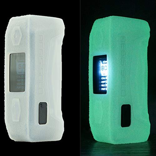 Lononvie 1pcs Protective Case for GeekVape aegis Solo 100W,Silicone Case Sleeve Cover Shield Wrap(Glow in Dark)