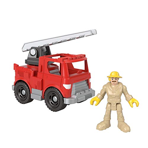 Fisher-Price Imaginext Rescue Fire Truck, Push-Along Vehicle and Character Figure Set for Preschool Kids Ages 3-8 Years