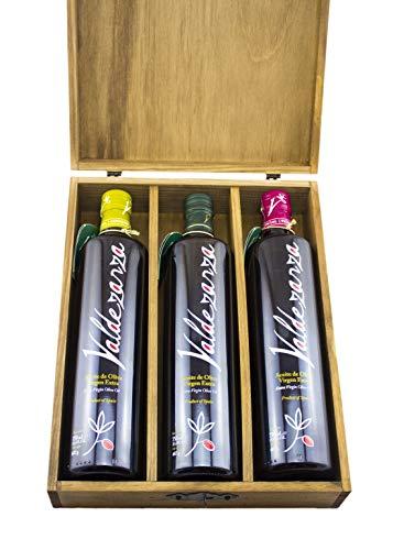 Valdezarza Estuche Madera Botella 750ml Arbequina + Picual + Coupage