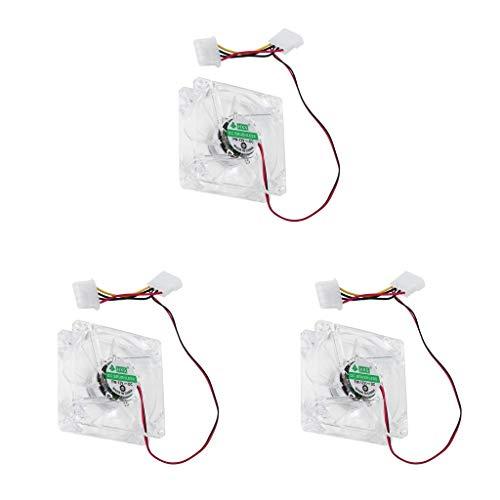 #N/A/a Computadora de 3 Partes Ventilador de 12 V CC 4 LED Multicolor 80 Mm