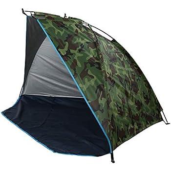 Estink Tente de Camping, abri de pêche en Plein air 220 cm * 120 cm * 120 cm Tente de Camouflage Portable pour 2 Personnes pour Camping Familial/pêche/Pique-Nique/Plage