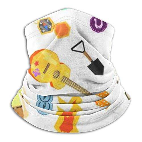 BGNHG Polaina de cuello, cara de invierno, diadema para calentar los oídos, Amless con equipo de senderismo para acampar y niños con uniforme Scout, sombreros para esquiar a prueba de viento
