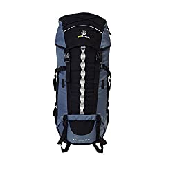 outdoor backpacker backpack with rain cover 4 Continents 85 + 10 - travel backpack with front opening for trekking tours, world trips and backpacking