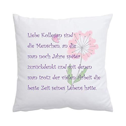 Creativgravur® Kissen 40 x 40 cm mit Aufdruck Spruch zum Abschied von Kollegen