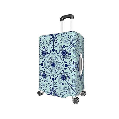Lind88 Reisegepäckschutz, Mandala, 3D-Druck, Verschiedene Größen, Mitternachtsblau, weiß (Weiß) - Lind88-scc