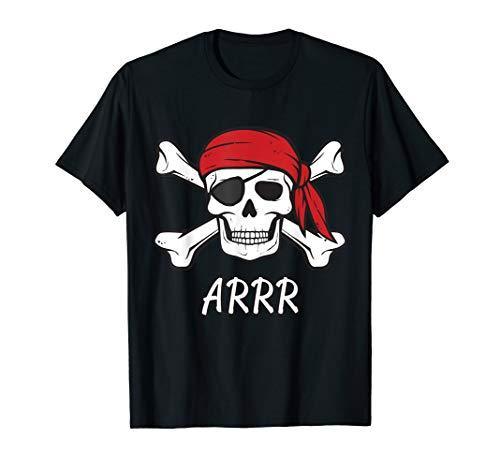 Pirat Shirt   Kinder oder Erwachsene gekreuzten Knochen und Totenkopf Tshirt