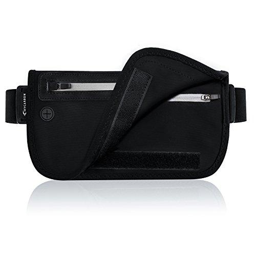 MYCARBON RFID Money Belt for TravelSecure Fanny PackWaterproof Passport Holder Waist pack