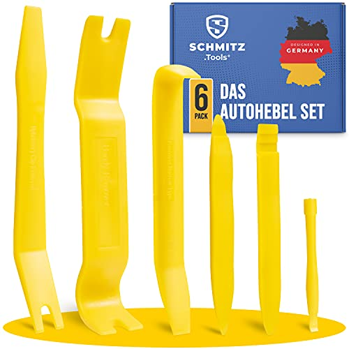 SCHMITZ.Tools Zierleistenkeile + Hebelwerkzeug Auto Set [6 Teile] Auto Demontage Werkzeuge Set - Verkleidungs Werkzeug - Türverkleidung Werkzeug - Plastikkeile Kfz - Auto Verkleidung Werkzeug