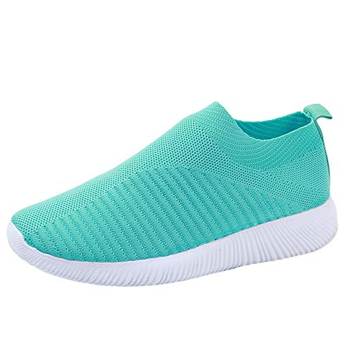 Patifia Sportschuhe Damen, Damen Outdoor Mesh Schuhe Komfortable Casual Slip On Komfortable Sohlen Mädchen Fitness Laufsportschuhe Atmungsaktive Barfussschuhe Turnschuhe