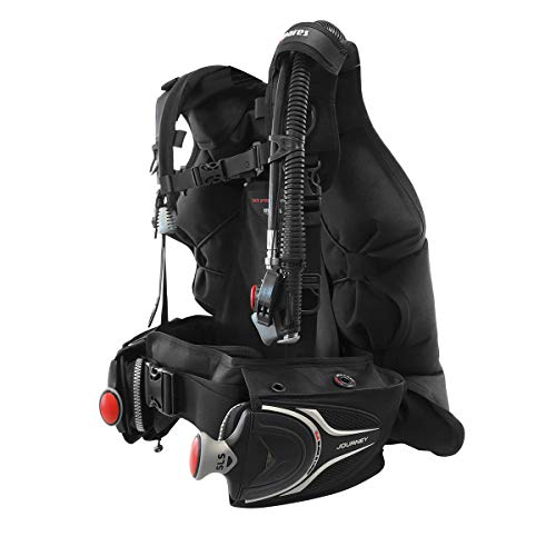 Mares Journey 3.0 Back-Inflation Scuba BCD with Integrated Weight Pockets - Scuba Gear - Scuba Diving BCD BCD Diving - Travel BCD - Dive System BCD - Back Inflation BCD Scuba - XL