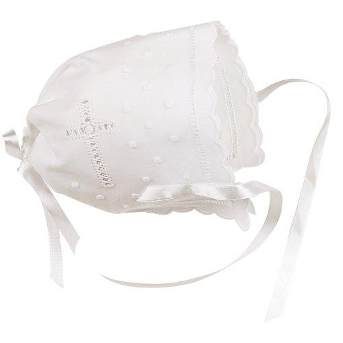 Elegant Baby White Keepsake Bonnet (Discontinued by Manufacturer) by Elegant Baby