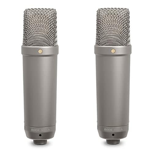 Rode NT-1A Großmembran-Kondensatormikrofon mit goldbedampfter & elastisch gelagerter 2,5 cm (1 Zoll) Nierenkapsel