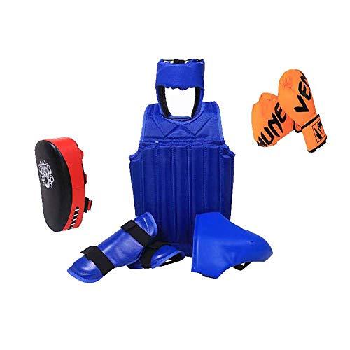 Yx-outdoor boksen sparring beschermende Gear 5 stuks, geschikt voor zowel kinderen als volwassenen, pantser, leggings, helmen, handschoenen,