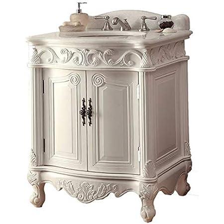 27 Hayman Antique White Classic Style Old Fashioned Bathroom Vanity Bc 2917w Aw 27 Amazon Com