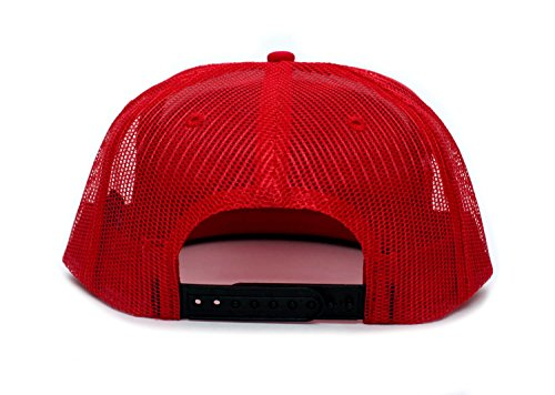 Booty Hunter Flat Bill Unisex-Adult One-Size Trucker Hat Cap Black/Red/White