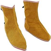 NC 2x Calçados de Proteção para Soldagem Polainas de Calçados Panturrilhas Soldador de Cobertura para Pés