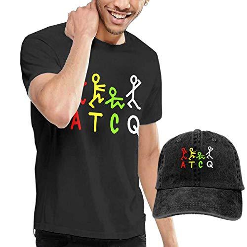 Hengtaichang A Tribe Called Qu-EST Camisa para Hombre de Manga Corta Camisa de Moda para Adultos + Sombrero de Vaquero