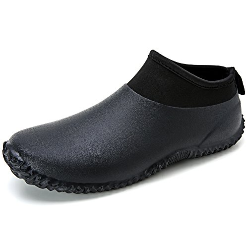 [Hellozebra] レインシューズ メンズ 超軽量 レディース ショート レインブーツ 釣り 花見 雨靴 ブラック 26.5cm(42)