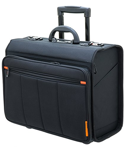 "Davidts Businesstrolley - Pilotenkoffer - Laptoptrolley 17"" und 10"" Tablet - 47x40x25cm"