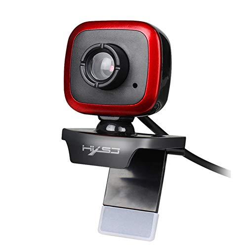 HUAXM Webcam con micrófono, cámara de vídeo del Ordenador portátil para Video Calling cámara Web USB de grabación para Juegos para Las reuniones del Curso en Tiempo Real