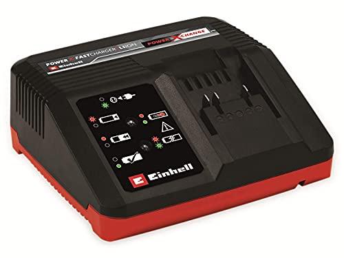 Original 4512103 Einhell Power X-Fastcharger 4A Power X-Change (Li-Ion, für alle Power X-Change Akkus verwendbar, 4-Ampere Schnellladetechnologie, Akkuüberwachung für optimalen Ladevorgang)