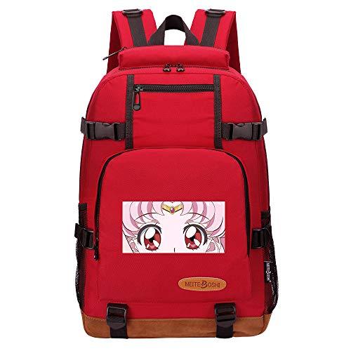 Leegt Hombres Y Mujeres Unisex Sailor Moon 17 Inches Mochilas Primarios Ir A La Escuela, Uso Diario, Viajar Multicolor Backpack, Mochila Para Mujer Chico Chica