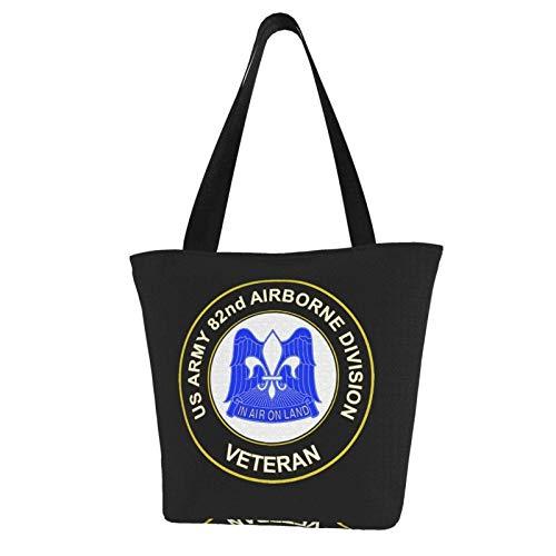 Us Army 82nd Airborne Unit Crest Veteran Durable con bolsa de hombro de gran capacidad