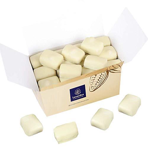 BELGISCHE MANON BLANC in weißer Schokolade 500g im Gold-Ballotin
