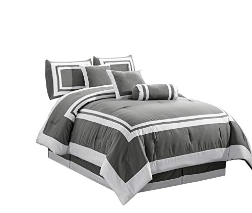 white and grey hotel bedding - 5