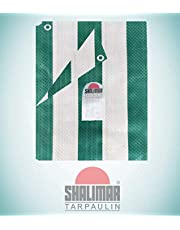 Shalimar Virgin HDPE Tarpaulin Size (9ft x 6ft) (Green and White Stripes)