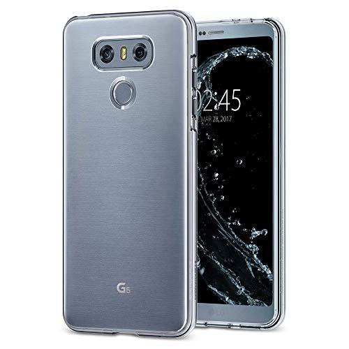 Spigen Liquid Crystal, Cover LG G6 con Tecnologia Air Cushion e Protezione per Custodia LG G6 - Crystal Clear