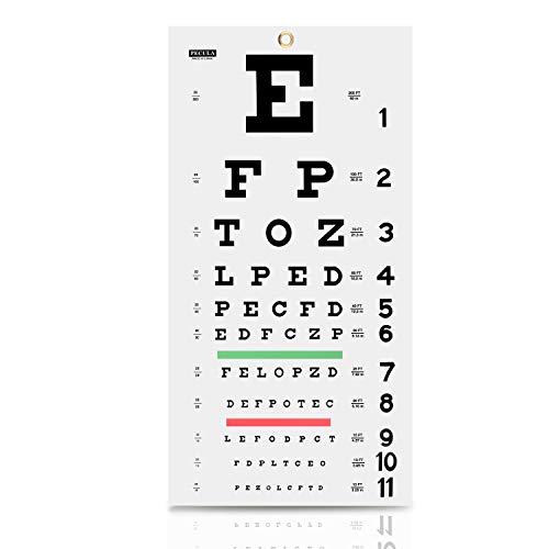 Eye Chart, Snellen Eye Chart, Wall Chart, Eye Charts for Eye Exams 20 feet 11 X 22 in.