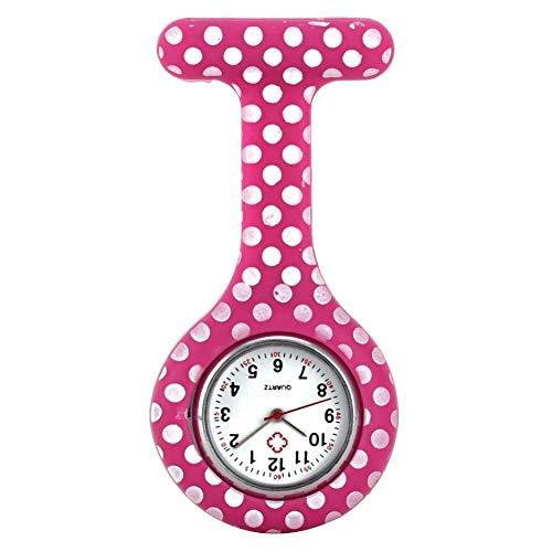 Moonlight Star Enfermera Relojes Estilo Impreso con Clip Fob de la Broche de Bolsillo Pendiente Colgantes Enfermeras médico Reloj de Cuarzo (Color : 13)