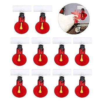 Lot de 10 abreuvoirs automatiques en plastique pour volaille 1,27 cm