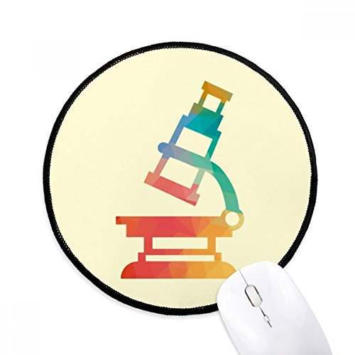 Cartoon Microscope Chemistry Pattern Mouse Pad Desktop Office Round Mat for Computer