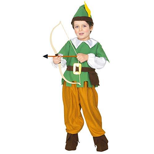 Widmannmannmannmannmann's Robin kostuum voor kinderen, meerkleurig, 110 cm / 3-4 years, 43839