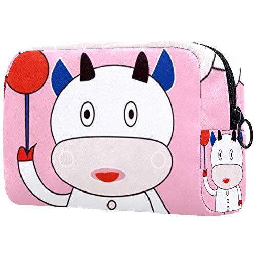 Bolsa de brochas de maquillaje personalizables, bolsas de aseo portátiles para mujeres, bolso de cosméticos, organizador de viaje, Ping Pong Vaca