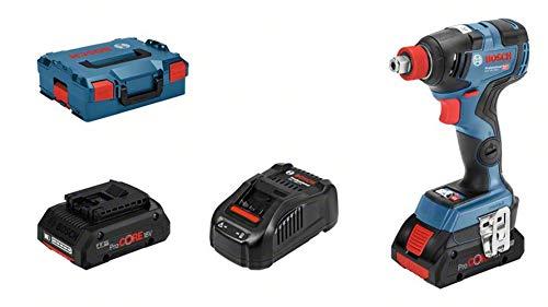 Bosch Professional GDX 18V–200 C - Llave de impacto a batería (18V, 200Nm, conectable, 2 baterías ProCore x 4.0 Ah, en L-BOXX)