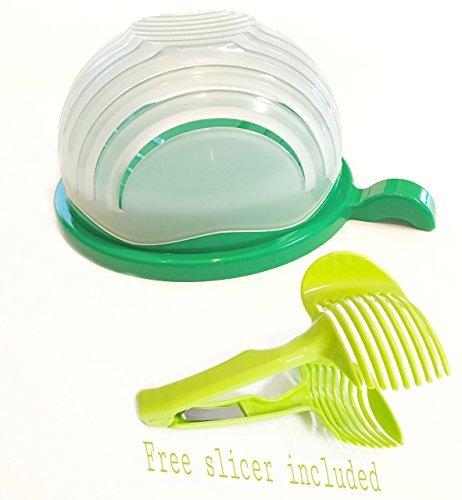 Salatschneider-Schüssel, Vegtale Cutter Schüssel. Machen Sie Ihren Salat in 60 Sekunden, Gemüse-Salatbereiter Bonusschneider.