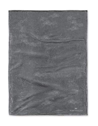 TOM TAILOR 0237798 Wohndecke Angorina-Fleece Microfaser Super Soft 1x 150x200 cm anthracite