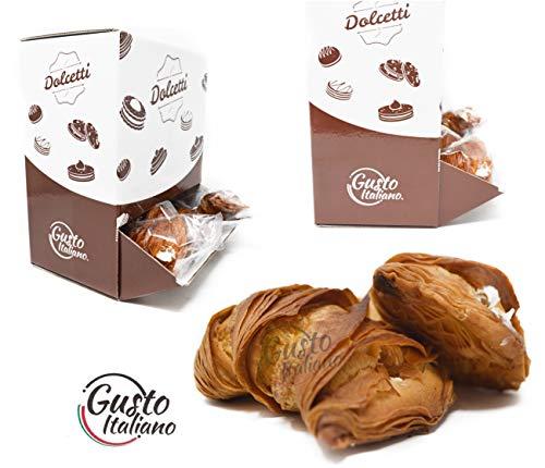 BOX CODINE di Pasta Sfoglia Ripiene di Cioccolato bianco Confezionate SIngolarmente 1,4kg Circa 35 PEZZI Ideale Per Bar Uffici Eventi Casa