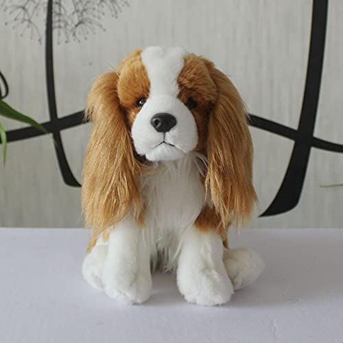 NC277 Super Lindo muñeco Beagle de Peluche de Juguete pequeño Perro muñeca Regalo para Hombres y Mujeres 25 CM Color marrón y Blanco Altura de Asiento 25 cm