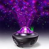 Projector d'Estrelles de llum Nocturna, llum Estrellada I Projector *Ocean *Wave amb Control Remot Àudio *Bluetooth 10 Maneres de Llum i Temporitzador per a Nens, Adult, Aniversari i Festa (Negre)
